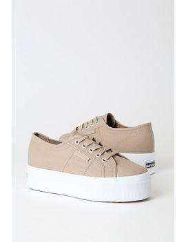 2790 Acotw Beige Platform Sneakers by Superga