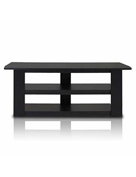 "Furinno 12186 Bk Parsons Television Entertainment Center, Standard 42.1""(W) X16.5(H) X13.4(D), Black by Furinno"