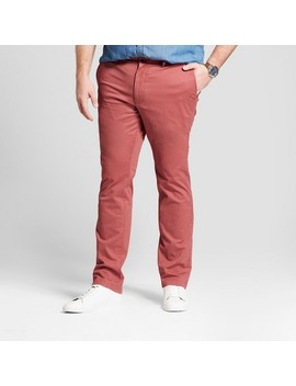 Men's Tall Slim Fit Hennepin Chino Pants   Goodfellow &Amp; Co Dusty Red by Goodfellow & Co Dusty Red