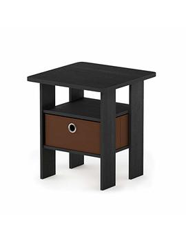 Furinno 11157 Am/Mbr Andrey Nightstand, 1 Pack, Americano/Medium Brown by Furinno