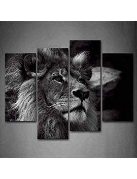 Black And White Lion Head Portrait Wall Art Painting Pictures Print On Canvas Animal The Picture For Home Modern Decoration by Firstwallart