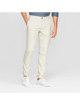 Men's Skinny Fit Chino Pants   Goodfellow &Amp; Co Cream by Goodfellow & Co Cream