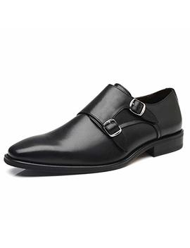 La Milano Mens Double Monk Strap Slip On Loafer Oxford Formal Business Casual Dress Shoes For Men by La Milano