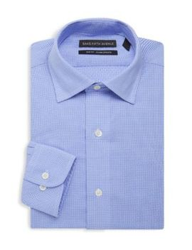 Slim Fit Check Print Dress Shirt by Saks Fifth Avenue