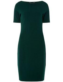 Khaki Slash Neck Textured Bodycon Dress by Dorothy Perkins