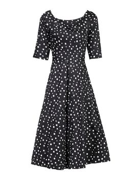 *Jolie Moi Black Pattern Midi Fit And Flare Dress by Dorothy Perkins
