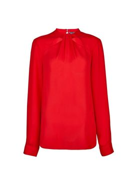 **Tall Red Button Emily Top. by Dorothy Perkins