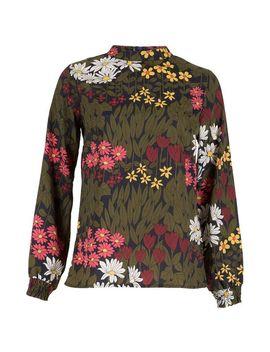 *Tenki Green Floral Print Top by Dorothy Perkins