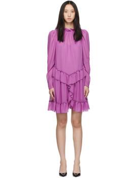 Purple Georgette Ruffle Dress by See By ChloÉ