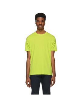 Yellow Regular Fit T Shirt by Hugo