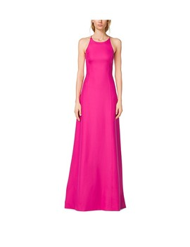 Silk Crepe Halter Gown by Michael Kors Collection