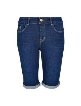 Blue Indigo Authentic Knee Shorts by Dorothy Perkins