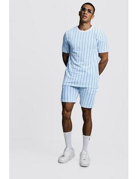 velour-stripe-short-set by boohoo