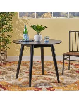 Wynonna Mid Century Modern Round Faux Wood Dining Table By Christopher Knight Home by Christopher Knight Home