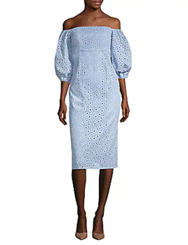 sheila-off-the-shoulder-eyelet-dress by prose-&-poetry