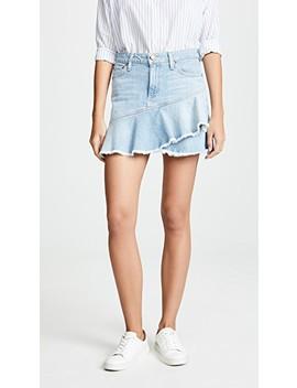 Mini Flounce Ruffle Skirt by Alice + Olivia Jeans