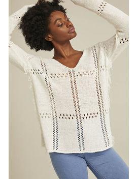 Tape Yarn Stitch Interest Sweater by Long Tall Sally