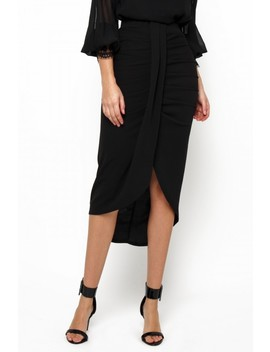 Tfnc Nova Black Midi Skirt by Tfnc London
