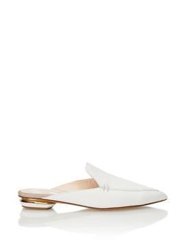 Beya Mule In White Leather by Fivestory