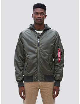 L 2 B Hooded Battlewash Flight Jacket by Alpha Industries