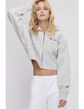 Reverse Weave Crop Zip Hooded Sweatshirt by Champion