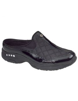 Traveltime Classic Clogs   Black/Silver Patent by Easy Spirit
