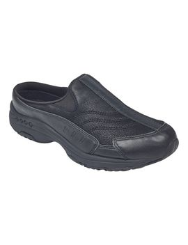 Traveltime Leather Clogs   Black Leather by Easy Spirit