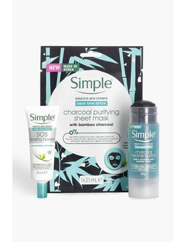Simple Daily Skin Detox & Mask Bundle by Boohoo