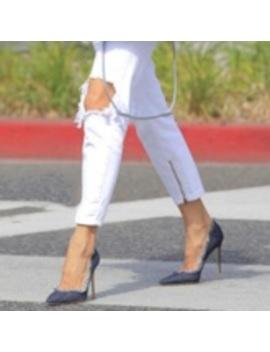 Denim Tassel Stiletto Heel Pointed Toe Stylish Women's Pumps by Tb Dress