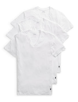 Classic V Neck T Shirts 3 Pack by Polo Ralph Lauren