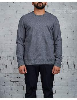 Reigning Champ Crewneck Marled Black Midweight Terry by Less 17