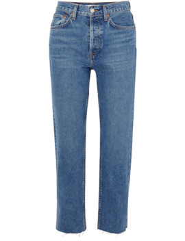 Originals Stovepipe High Rise Straight Leg Jeans by Re/Done