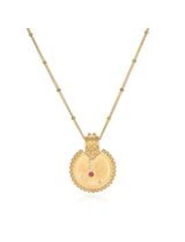 Mandala Zodiac Cancer Ruby Necklace by Satya