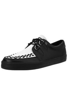 Black & White D Ring Vlk Sneaker by Tuk