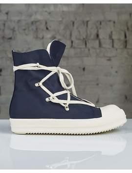 Rick Owens Drkshdw Hexagram Sneakers Indigo by Less 17
