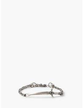Silver Dagger On Chain Bracelet by John Varvatos
