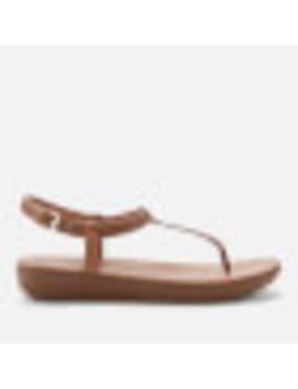 Fit Flop Women's Tia T Bar Sandals   Caramel by Fit Flop