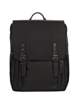 The Nylon Camps Bay Backpack (Black, Nylon/Leather) by Ona