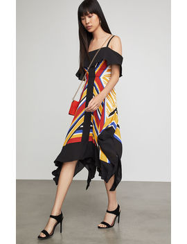 Strappy Handkerchief Stripe Dress by Bcbgmaxazria
