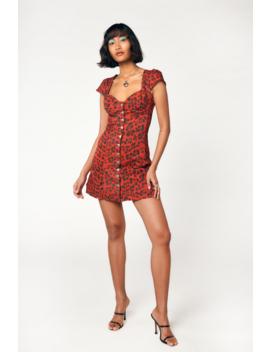 Gigi Dress   Red Leopard by Miaou
