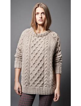 Cable Knit Crewneck by Smythe