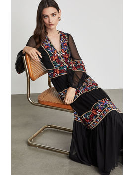 Floral Embroidered Maxi Dress by Bcbgmaxazria