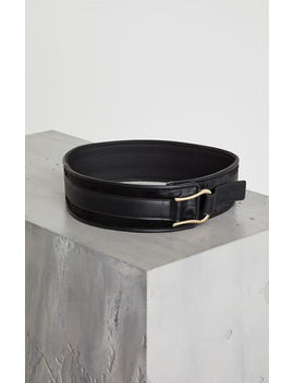 Faux Leather Pony Trimmed Belt by Bcbgmaxazria