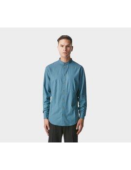Mandarin Collar Shirt   Dusk Blue by I Love Ugly