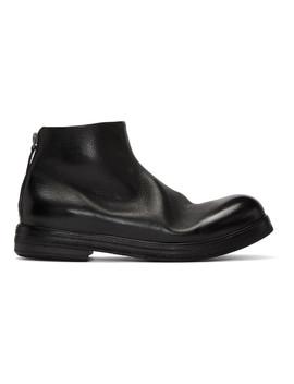 black-zucca-zeppa-tronchetto-boots by marsÈll