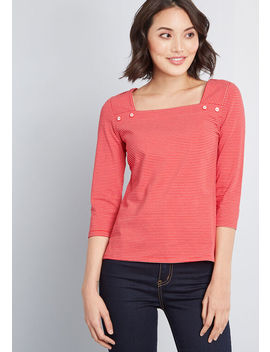 All For Interest Knit Top by Modcloth