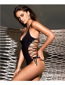 Lace Up Sides One Piece by Mapalé