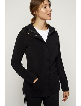 Hooded Micro Fleece Jacket by Long Tall Sally