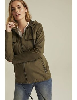 Hooded Utility Jacket by Long Tall Sally