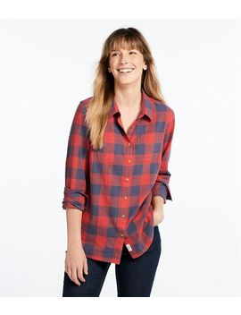 L.L.Bean Heritage Washed Twill Shirt, Long Sleeve Plaid by L.L.Bean